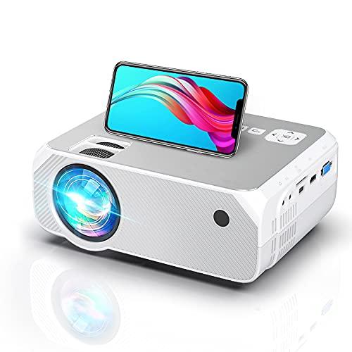 Proiettore Wifi, Supporta 1080P Nativo Full HD, Luminosità 6500, Proiettore Portatile Wifi, 300 Intch, Supporta Android/iOS/Fire Stick/PS4, Home Theater