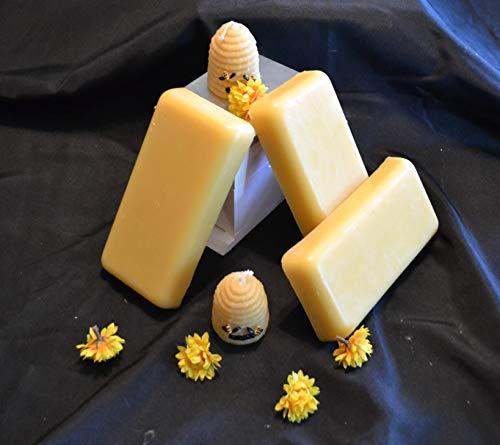 USA Premium Triple Filtered Natural Beeswax (3-1LB Blocks)