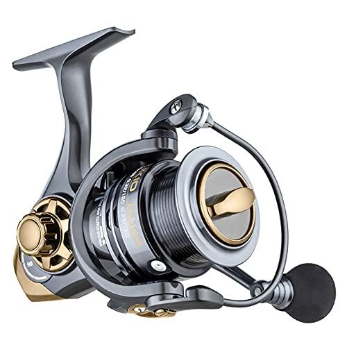 GvvcH Carrete Spinning de Pesca Carrete de Metal Relación de Transmisión 7.2:1 Carrete de Pesca de Carpas Aparejos de Mar,3000
