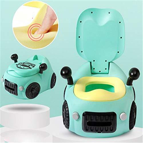 Bébé toilette de toilette voiture WC pour enfants entraîneur de toilettes siège chaise confortable Portable Pot enfants pour bébé pour enfant en bas âge multifonctionnel créativité voiture jouet,Green