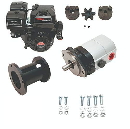 Tool Tuff Log Splitter Build Kit - 15 hp Electric-Start Engine, 28 GPM Pump, Coupler, Mount &...