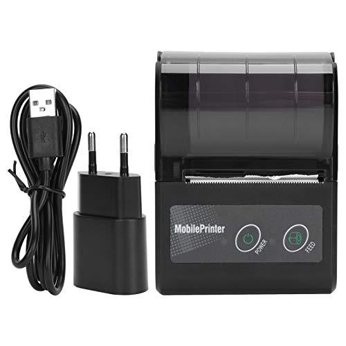 Zopsc-1 Impresora térmica de Recibos, Impresora térmica de boletos con batería de 1500 mAh, Mini máquina de Etiquetas compacta para Oficina, impresión de facturas de Taxi, hogar(Transparency)