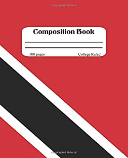 Composition Book: Trinidad and Tobago Notebook, College Ruled