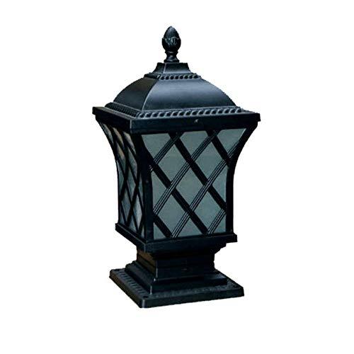 AXWT Victoria Post Light Lámpara de césped de jardín decoración de jardín luces paisaje columna cabeza lámpara patio lámpara de pared puerta al aire libre impermeable impermeable ip65 villa puerta emb