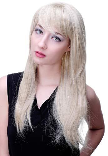 WIG ME UP - Perruque blond lumineux, adorable, avec frange ou raie 3280-22
