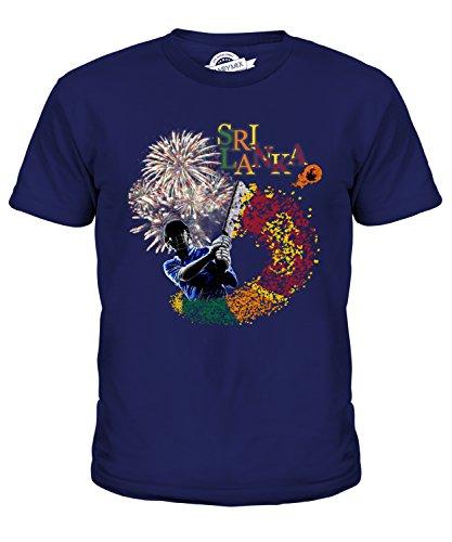 Candymix Sri Lanka Cricket Unisex Jungen Mädchen T Shirt, Größe 12 Jahre, Farbe Navy Blau