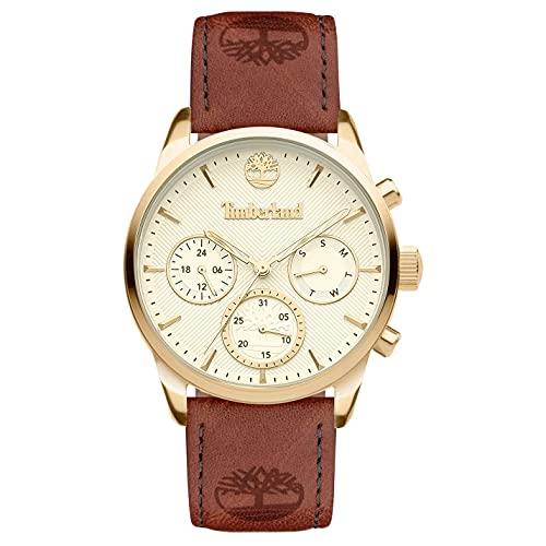 Timberland Reloj Analógico para Mujer de Cuarzo con Correa en Cuero TDWLF2101901