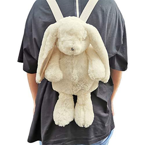 Mcttui Stuffed Animal Backpack Plush Bag Toys, Rabbit Bunny Backpack School Shoulder Bag Plush Toy Kids Children Girls Girlfriend Student Birthday Gift