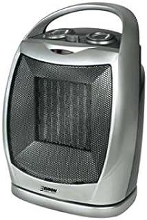 Euromac SF1525 Negro, Plata 1500W Radiador/ventilador - Calefactor (Radiador/ventilador, Techo, Negro, Plata, Botones, Giratorio, 1500 W, 750 W)