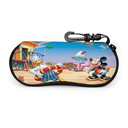 Estuche Para Las Gafas,Duc-K Micke-Y Mouse Estuche Para Gafas De Sol De Verano, Estuche Para Gafas Suaves Para Niños Y Adultos,17x8cm