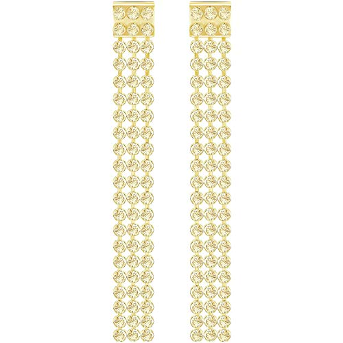 Swarovski Fit largo Pierced Pendientes Oro 5364807