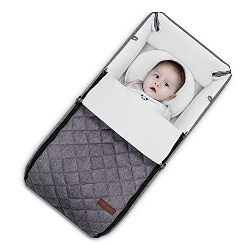 XJJUN Baby Bionic Bett Wiege Reise Auto Krabbeldecke Neugeborene Faltbar Anti-Extrusion Baumwolle Formaldehydfrei Kein Geruch Sicherheit, 3 Farben, 2 Arten (Color : Gray, Size : 75x36x18cm)