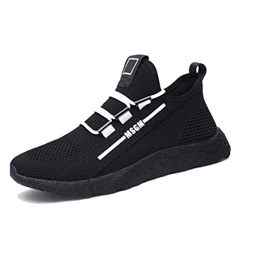 Zapatos Casuales para Hombres Zapatillas de Deporte Transpirables de Malla Antideslizante Jogging Fitness Sport Running Trainers