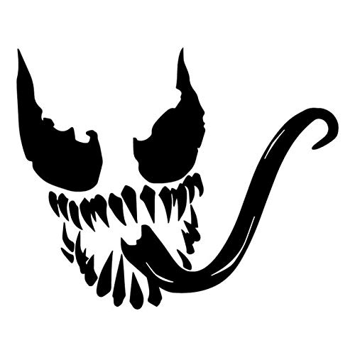 Car Stickers Funny 16.2X13.2CM Venom Face Funny Vinylauto-Aufkleber Trunk Auto-Dekoration-Abziehbild tankdeckel Aufkleber (Color Name : Black)