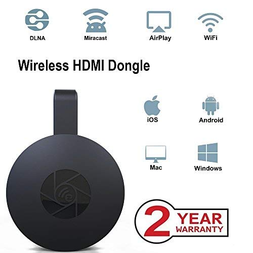 Wireless WiFi Display Dongle, tragbarer Display-Receiver, 1080P HDMI Miracast Dongle Digital AV zu HDMI-Anschluss für Android / Samsung / Projektor / TV / Mac / Windows