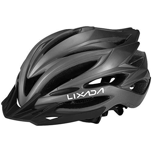 Lixada Casco de Ciclismo Respirable Ligero con Parasol Casco de Seguridad para...