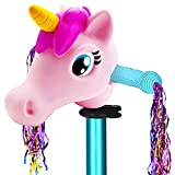 Scooter Accessories Pink Unicorn Head Toy Gifts for Toddlers Kids Girls Decoration T-bar Mini Scooter & Bike & Jump...