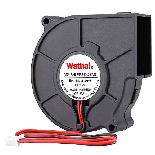 Wathai DC Centrifugal Fan 12V 75mm x 30mm Brushless Cooling Turbo Blower Fan