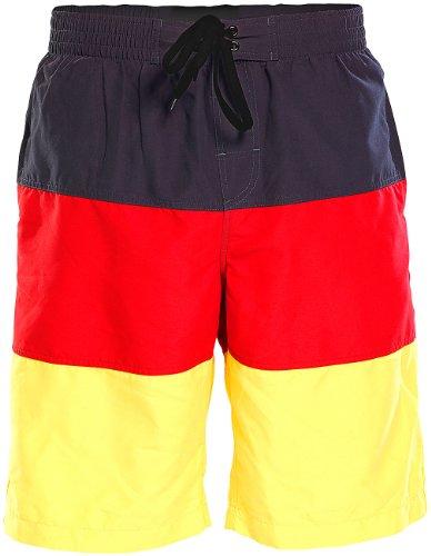 PEARL Deutschland Badehose: Badeshorts im schwarz-rot-goldenen Deutschland-Design, Gr. S (Shorts)
