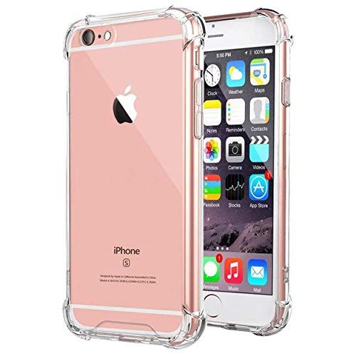 N NEWTOP Cover Compatibile per iPhone 7, 8 e SE 2020, Posteriore Semi Rigida TPU Hard Clear Anti-Shock Custodia Retro Protettiva Trasparente Angoli Rinforzati