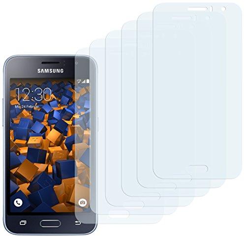 mumbi Schutzfolie kompatibel mit Samsung Galaxy J1 2016 Folie klar, Bildschirmschutzfolie (6X)