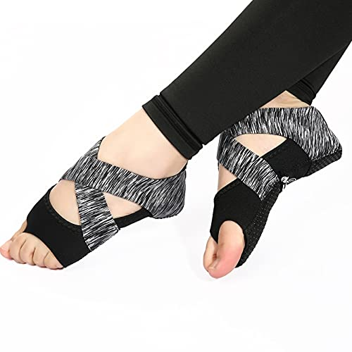 RHoet Backless Profesional NO SINKIDO SINKIDO Sticky Sticky Sport Socks DE Yoga Mujeres Antideslizantes Vendaje Deportes Girls Ballet Dance Socks (Color : WZ-0011-2)