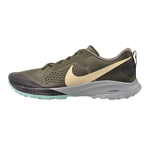 Nike Air Zoom Terra Kiger 5 Men's Running Shoe Cargo Khaki/Team Gold-Black-Jade Stone 10.0