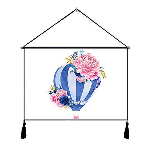 lsaiyy Pinturas de Arte nórdico Tela de Amor Tapiz de algodón Dormitorio Fondo de Boda Manta de Tela de Pared Sala de Estar Pintura 713 65x45 cm