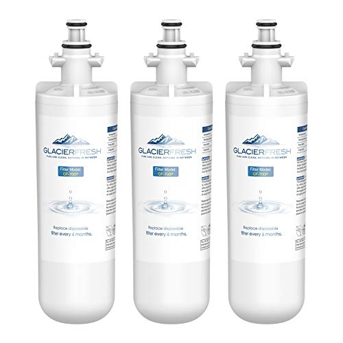 GLACIER FRESH for LG LT700P Refrigerator Water Filter, Replacement for LT700PC, ADQ36006101, ADQ36006102, RWF1200A, Kenmore 9690, AGF80300801, LFXC24726S, LMXS27626S 3 Packs