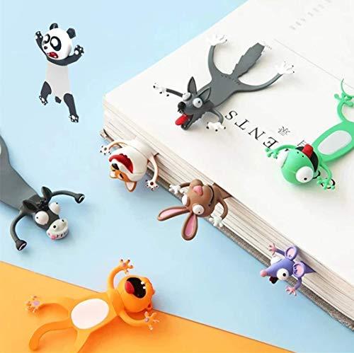 Wacky Bookmark Palz-3d Stereo Kawaii Cartoon Lovely Animal Bookmark Wacky Bookmark Palz Original Cute Book Marks (8pcs)
