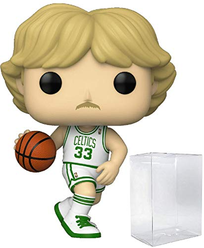 Larry Bird Boston Celtics White Jersey #77 Pop Sports NBA Legends Action Figure (Bundled with Ecotek Pop Protector to Protect Display Box)
