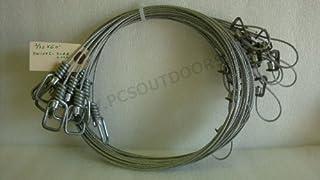 AuSable® Brand 5 ft. 3/32 Coyote & Fox Snare with Sure Lock & Wire Swivel End 1 Dozen