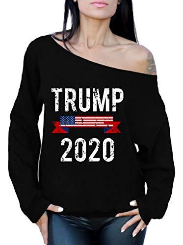 Awkward Styles Trump 2020 Off The Shoulder Sweatshirt Trump Sweater for Women Trump 2020 Support 2XL