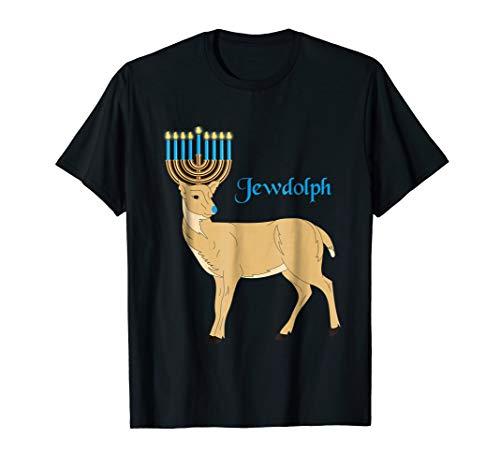 Jewdolph the Jewish Reindeer T-Shirt Happy Hanukkah T-Shirt