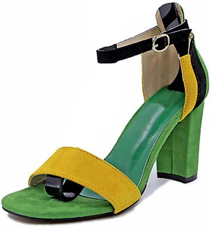 Women 039 s Sandals Summer Slingback PU Casual Wedge Heel Buckle WalkingGreenUS6.5-7 EU37 UK4.5-5 CN37