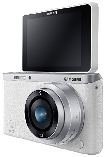 Samsung Electronics NX Mini EV-NXF1ZZB1HUS Wireless Smart 20.5MP Compact System Camera with 2.96-Inch LCD and 9mm f3.5 ED (White)