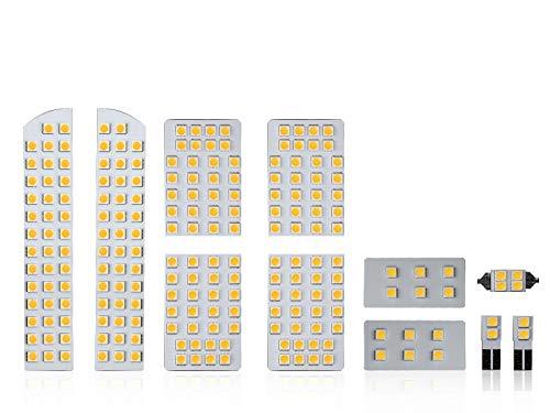 20系 アルファード ヴェルファイア 3000K 電球色 LED ルームランプ 11点セット ANH20/25 GGH20/25 ゴールデ...