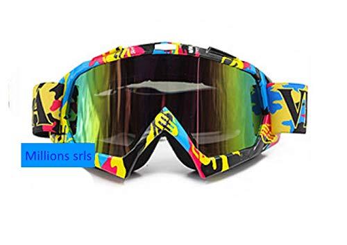 VEMAR Gafas de Motocross, protección UV, Gafas de esquí, Gafas de Snowboard, Gafas antiarañazos, Resistentes al Viento, Lentes de Colores