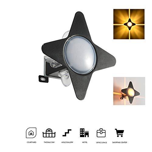 LED wandlamp ster vorm moderne stijl aluminium materiaal waterdicht gemakkelijk te reinigen zachte verlichting buitenwandlamp (warm wit licht)