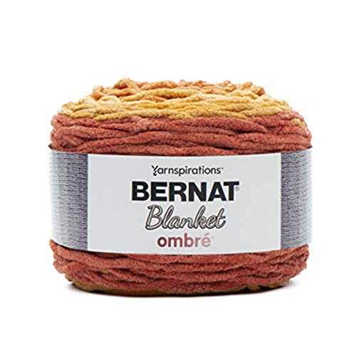 Bernat Blanket yarn, Orange Crush Ombre