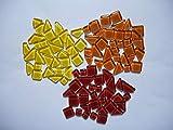 100 Pcs Yellow Orange Red Mix Soft Edge Mixed Shapes Glass Mosaic Border Tiles Mosaic Making Supplies