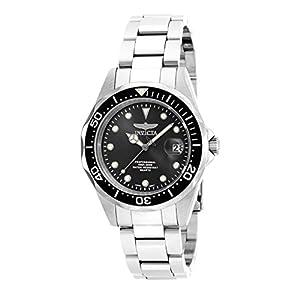 Invicta 17046 Pro Diver Reloj Unisex acero inoxidable Cuarzo Esfera negro