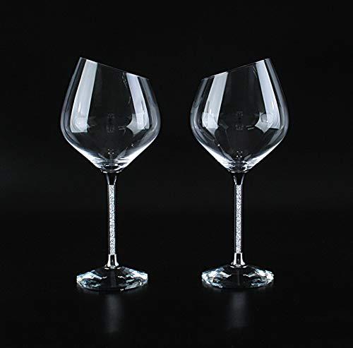 Conjunto de copa de vino tinto, conjunto de 2 piezas, copas de...