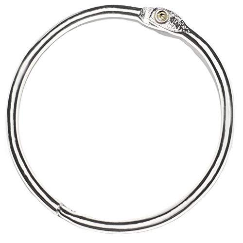 2 Inch(25 Pack)Book Binder Rings, Office Loose Leaf Ring, Nickel Plated Steel Binder Rings, Keychain Key Rings, Metal Book Rings, Silver