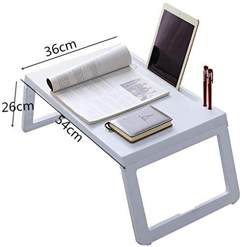 Qfeng klapbed tafel en bank tafel laptop tafel schrijven leren bed lezen bed tafel eettafel tafel lade met bureaublad groef (kleur: grijs)