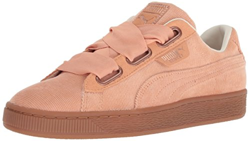 Puma Tenis Basket Heart Corduroy Wn's Mujer, Color Rosa, 25.5