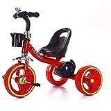 Triciclo para niños Bicicletas para bebés Trineo para niños Triciclo para bebés Música para bebés Triciclo ligero de colores Bicicleta de 1 año y medio a 6 años Bicicleta para niños Rojo
