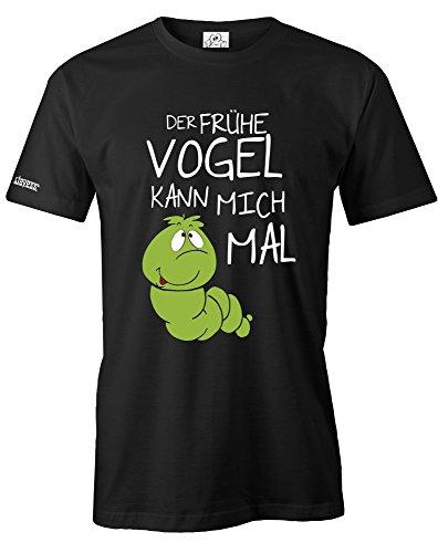 Jayess DER FRÜHE Vogel KANN Mich MAL - RAUPE Deluxe - Herren - T-Shirt in Schwarz by Gr. XXL