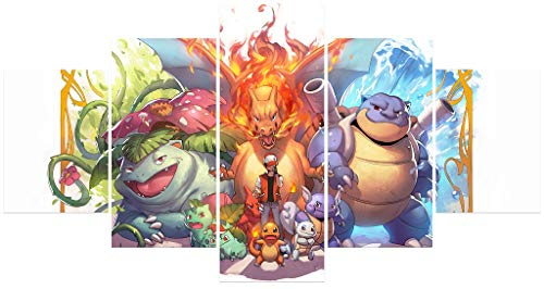 Pokemon Poster Unframed Canvas Prints Anime Posters for Bedroom