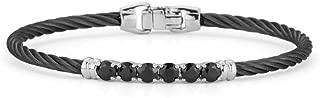 ALOR Burano Black Cable Petite Classic Stackable Bracelet with Black Onyx